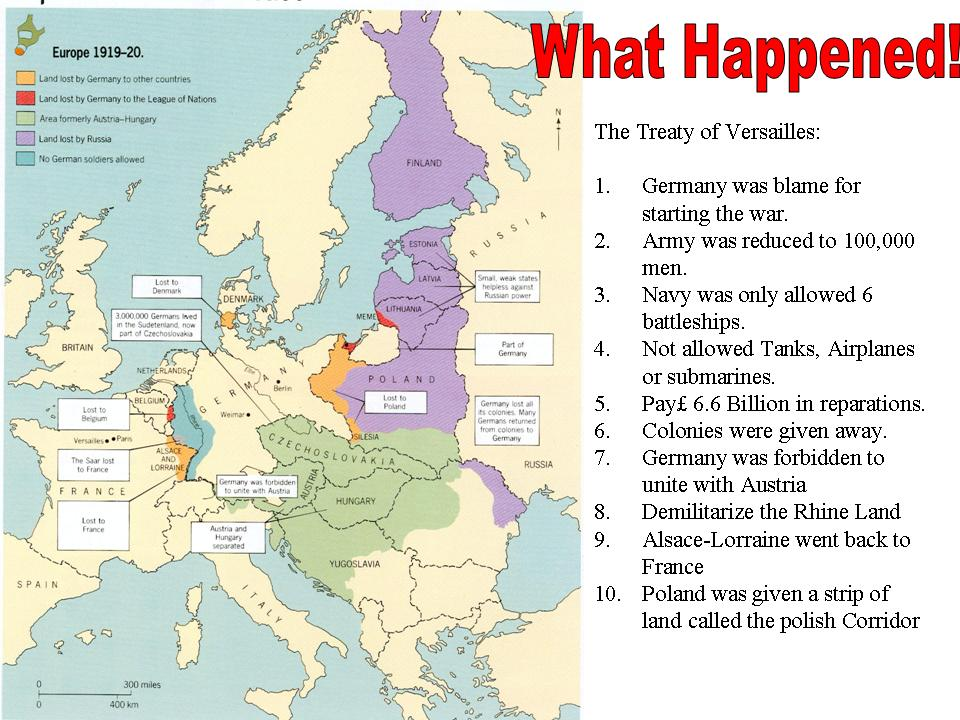How did the Treaty of Versailles punish Germany?WWI