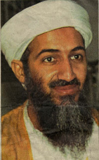 Osama bin Laden from a newspaper