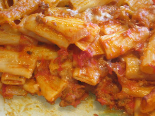 ... Goddess's Kitchen ♥: Baked Pasta with Sausages, Tomatoes and Cheese