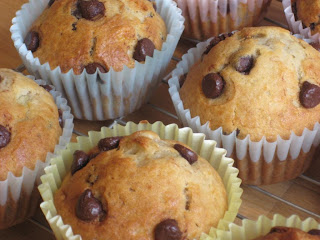Sweet & Simple Bakes Recipes: Banana Chocolate Chip Muffins