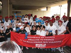 Accueil de l'équipe fidjienne par l'école de Rugby de Rambouillet
