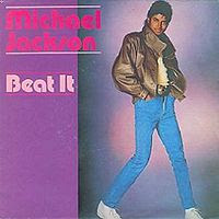 The cover to Michael Jacksons single blockbuster Beat It