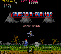A screen shot of the original 1985 video game Ghosts n Goblins! #Nintendo #VideoGames