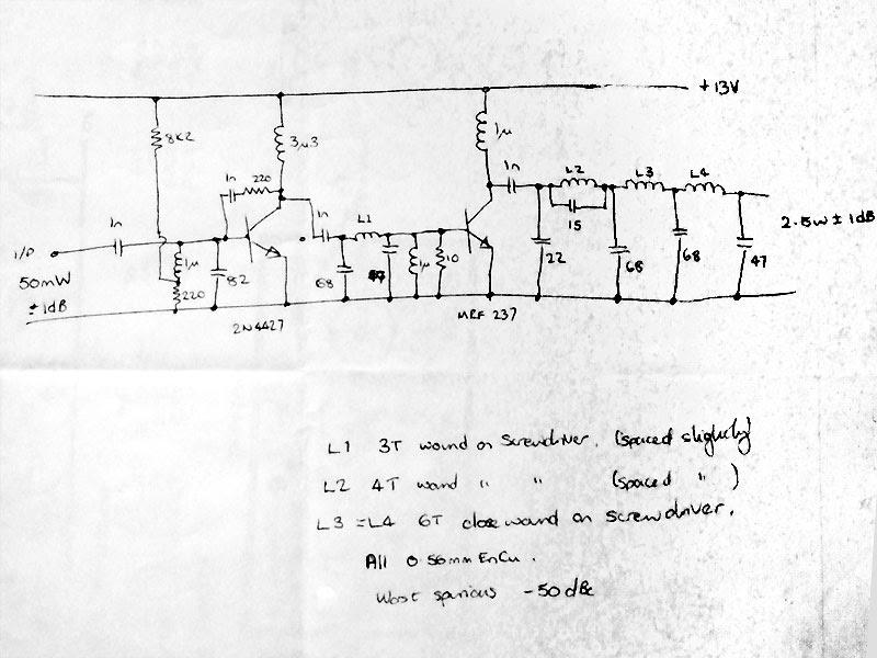 Radio Circuits Blog: 2.5 W FM Power Amplifier