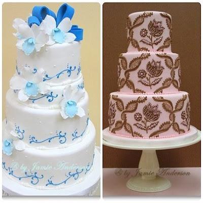 Şeker Hamurlu Düğün Pastası Örnekleri