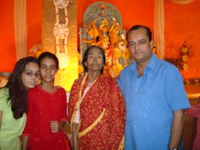 With my daughters and my mother...