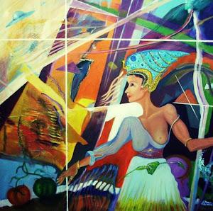 Poesía de MARIU CASEIRO-Ilustraciones del escritor y pintor español R. Fernández  Palmera