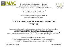 INVITACIÓN A PALACIO DE CULTURA DE TIJUANA-MÉXICO