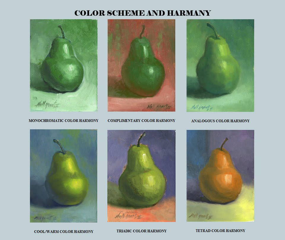 Draw One Small Object Using Six Color Harmony Schemes A Completementary B Analogous C Warm
