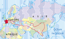 itinéraire prévu