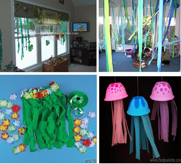 Blog de fiestas decoraci n con papel crep - Decorar con papel ...