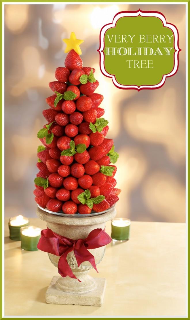 Centro de mesa con fresas para navidad  LaCelebracioncom