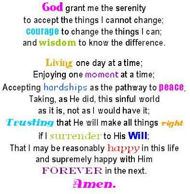 Obsessed image regarding serenity prayer printable