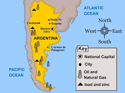 She Sure Is Sketchy January - Argentina map natural resources