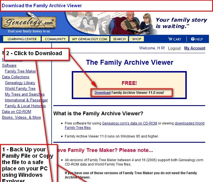 family tree maker user import an old version of family tree maker