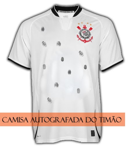 Camisa autografada do Corinthians 141d8f493a5b5