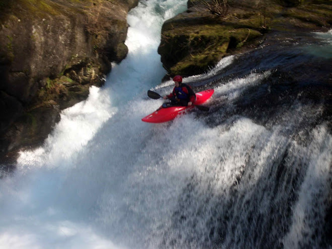 Chad on Horseshoe Falls (East Fork Lewis)