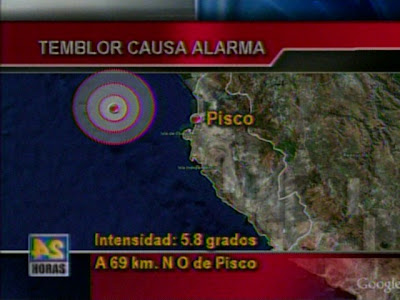 Temblor on Nuestras Vidas  Temblor En Lima E Ica