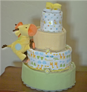 Miss Missy S Diaper Cakes Neutral Giraffe Cake
