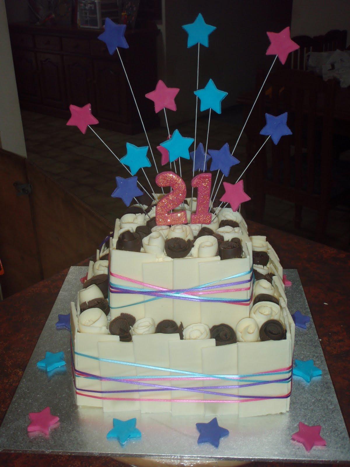 Cakes To Your Taste White Chocolate 21st Birthday Cake