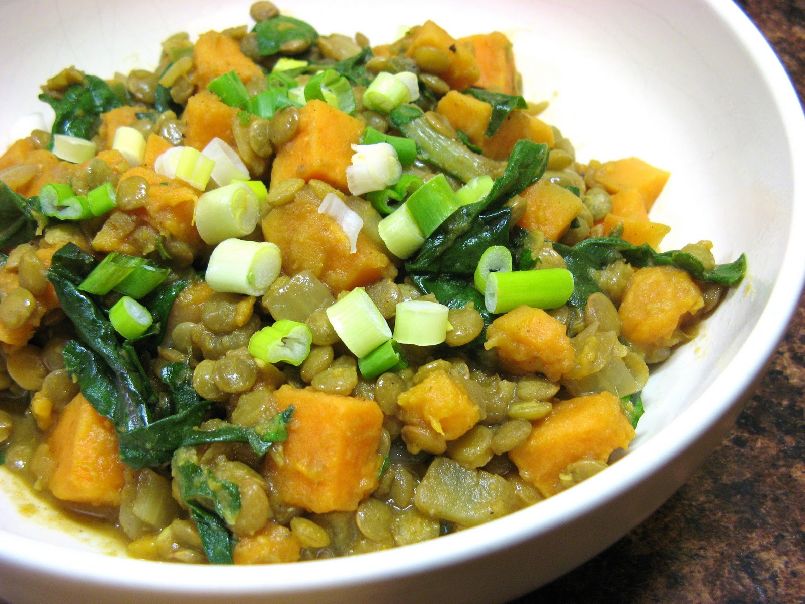 The Well Fed Newlyweds Curried Lentils With Sweet Potatoes And