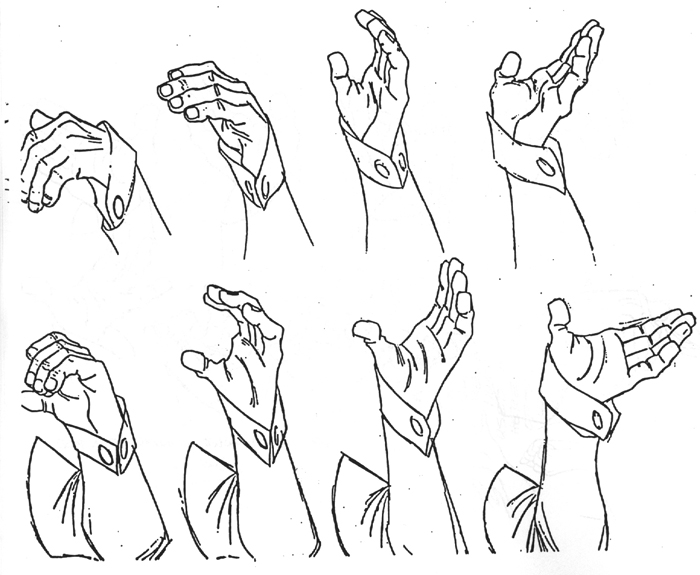 Character and Creature Design Notes: Hand Reference, Part Two