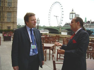 Andrew Pelling MP and Ken Frost on the Terrace of The Palace of Westminster