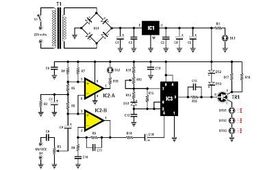 schema emetteur recepteur infrarouge.