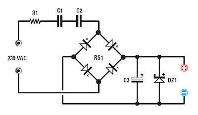 Reduce the voltage supply 230 VAC to a DC voltage