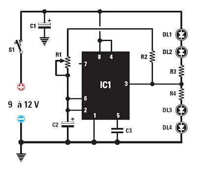 Schema circuit clignotant