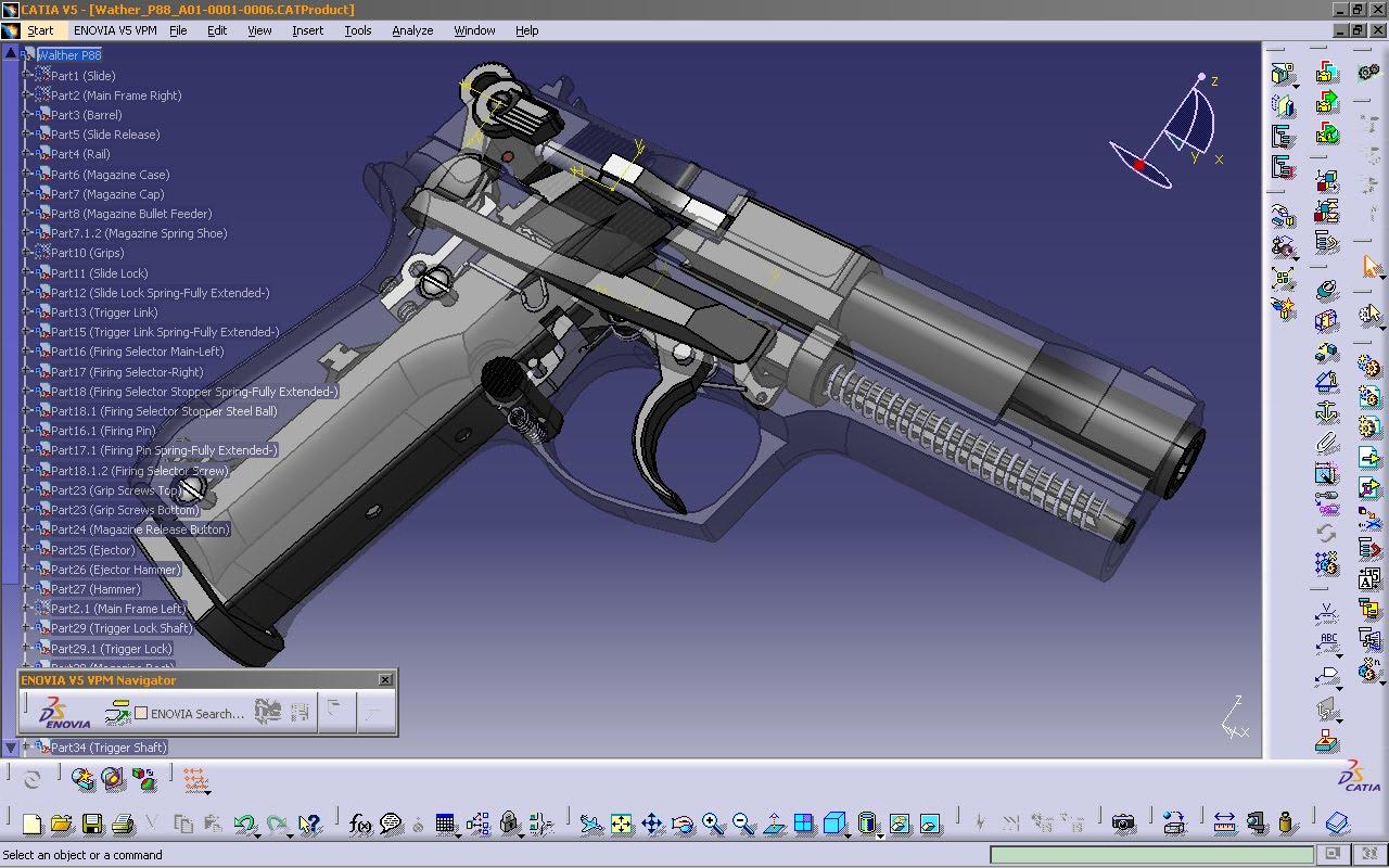 P Design: SOLARIS DESIGN Models Walther P88 In Catia