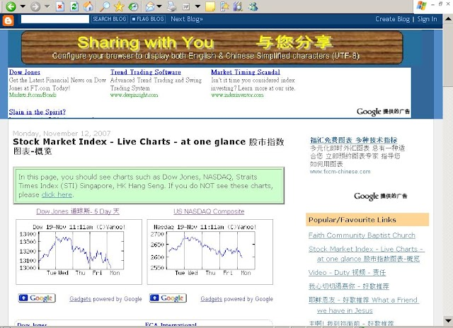 Stock Market Index - Live Charts - at one glance - 2