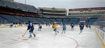 Pens practice at Rich Stadium in Orchard Park, NY Dec 31st
