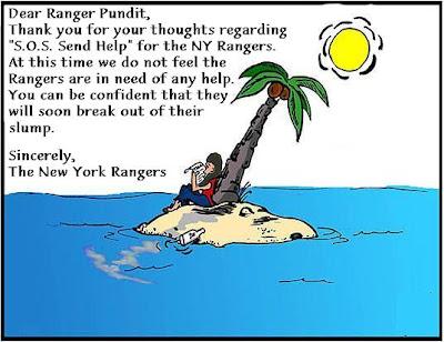 S.O.S for NY Rangers