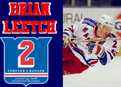 Brian Leetch - Jersey #2 retired