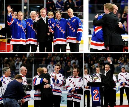 Brian Leetch Jersey #2 retirement ceremony - NY Rangers