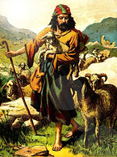 The good shepherd tends his flock