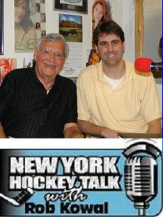 Mike Savino (left) visits Rob Kowal at NY Hockey Talk