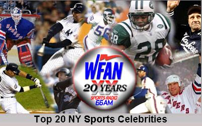 WFAN: Top 20 Sports Celebrities of the Last 20 Years Poll