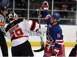 The Sean Avery Rule: no face-guarding or goalie interference