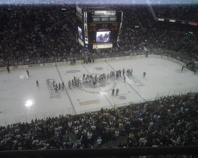 Rangers Pens handshake line