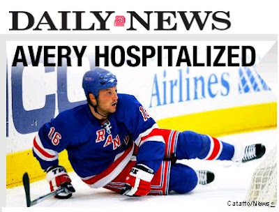 Sean Avery Rushed to Hospital with a with a lacerated spleen