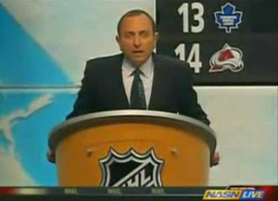 Gary Bettman is booed at the 2007 NHL entry level draft