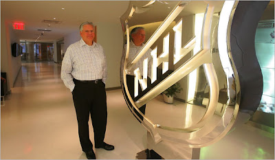 Frederic M. Strauss of TPG Architecture of New York, helped design the new NHL offices in Manhattan