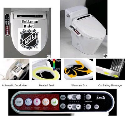 National Hockey League Headquarters: Gary Bettman Bidet