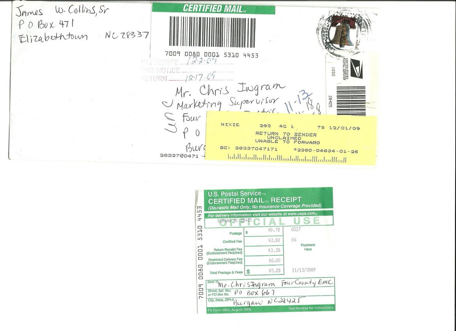 How To Find Out Who Sent A Certified Letter.Jaybird Collins Story I Sent Certified Mail Each Time To