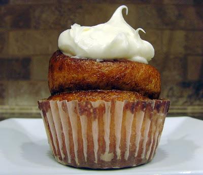 A Cinnamon Roll Cupcake