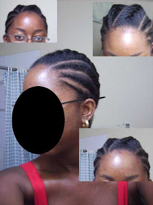 Natural Hairstyle – Cornrows and Flat Twists