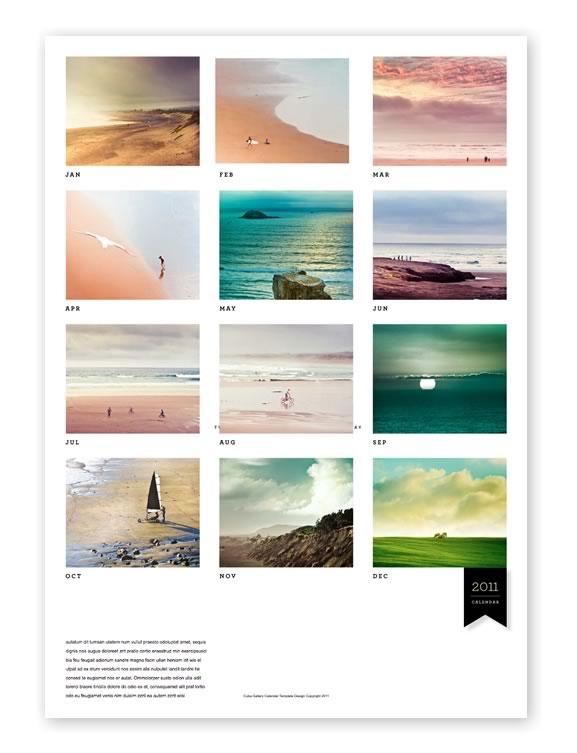 Calendar Template For Lightroom | Free Resume Templates ...