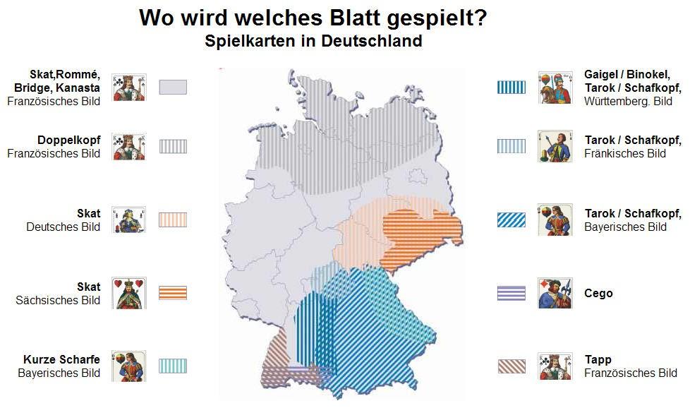 landkartenblog wo wird in deutschland welches blatt gespielt spielkarten in deutschland. Black Bedroom Furniture Sets. Home Design Ideas